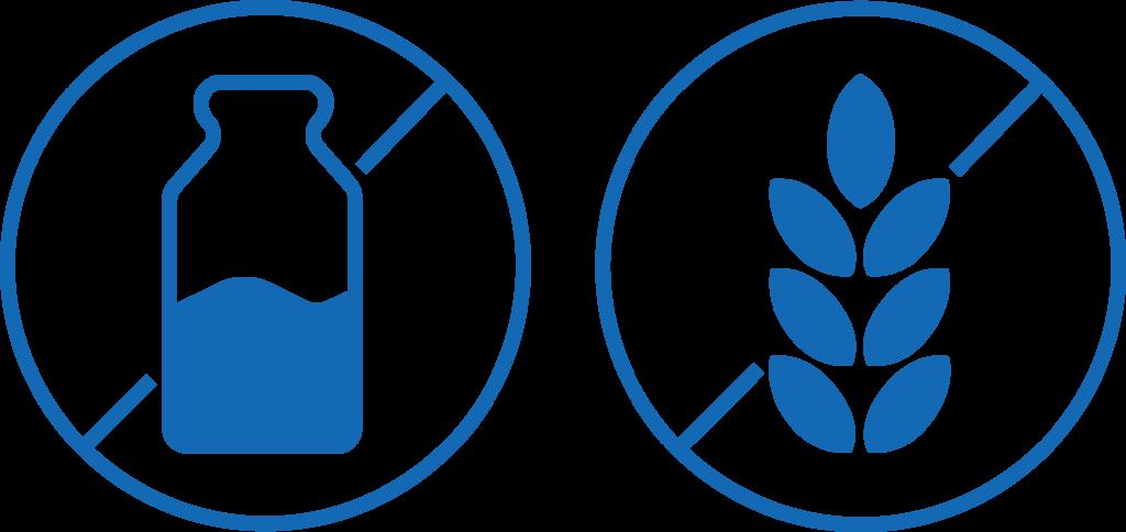 Laktose og glutenfri symbol